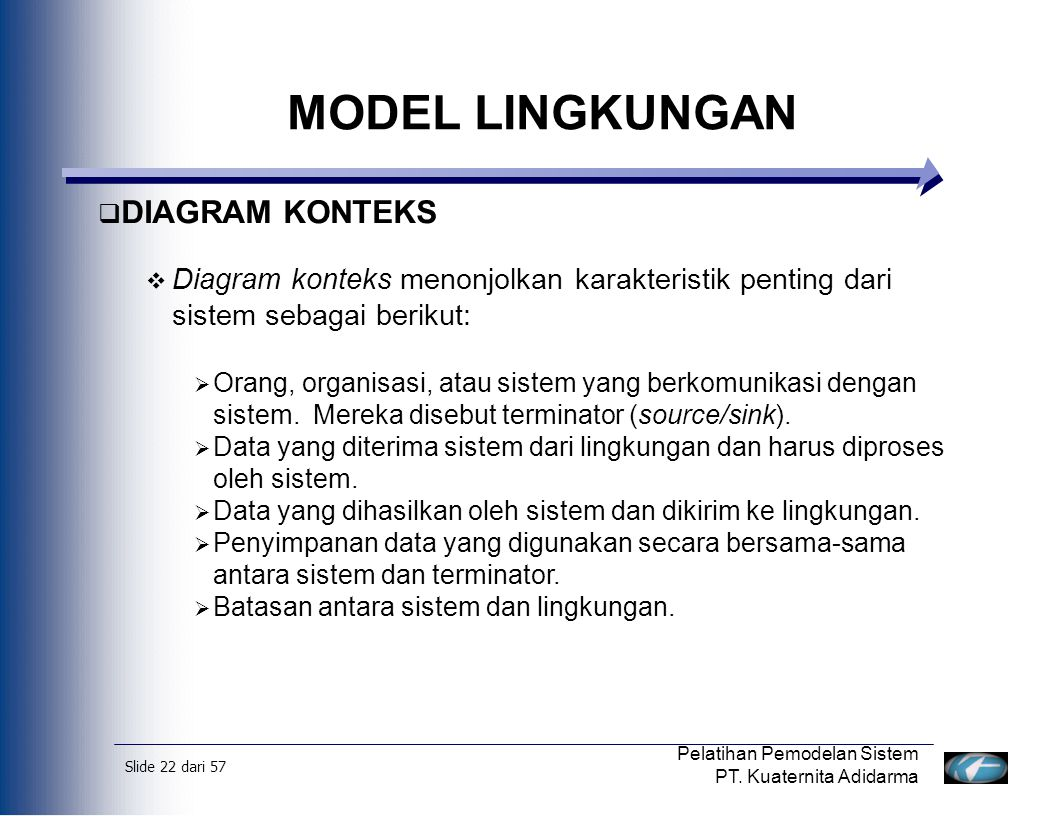 MODEL LINGKUNGAN DIAGRAM KONTEKS
