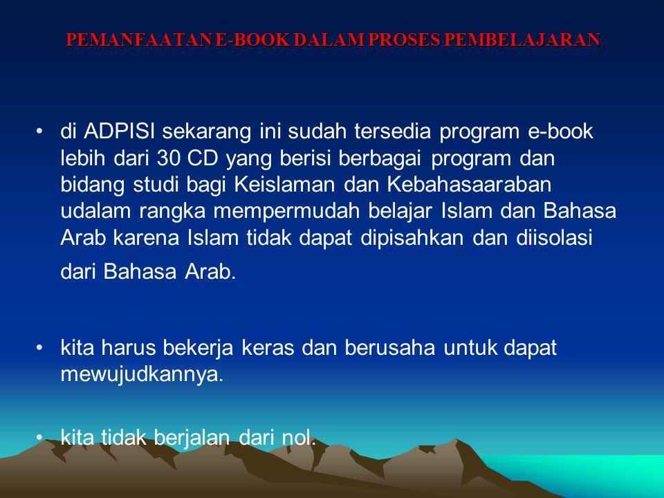 PEMANFAATAN E-BOOK DALAM PROSES PEMBELAJARAN