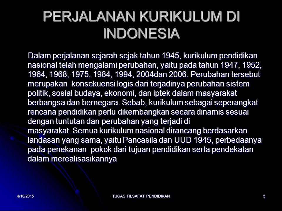 PERJALANAN KURIKULUM DI INDONESIA