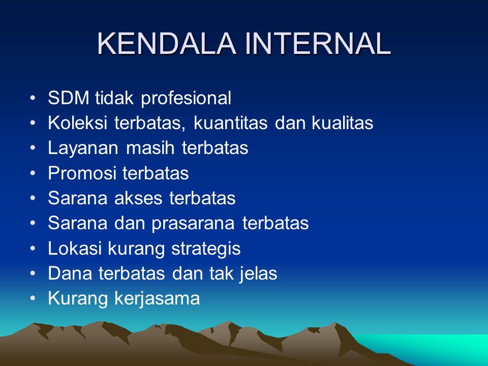 KENDALA INTERNAL SDM tidak profesional