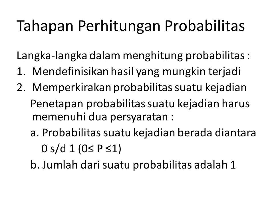 Tahapan Perhitungan Probabilitas