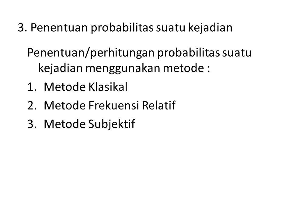 3. Penentuan probabilitas suatu kejadian