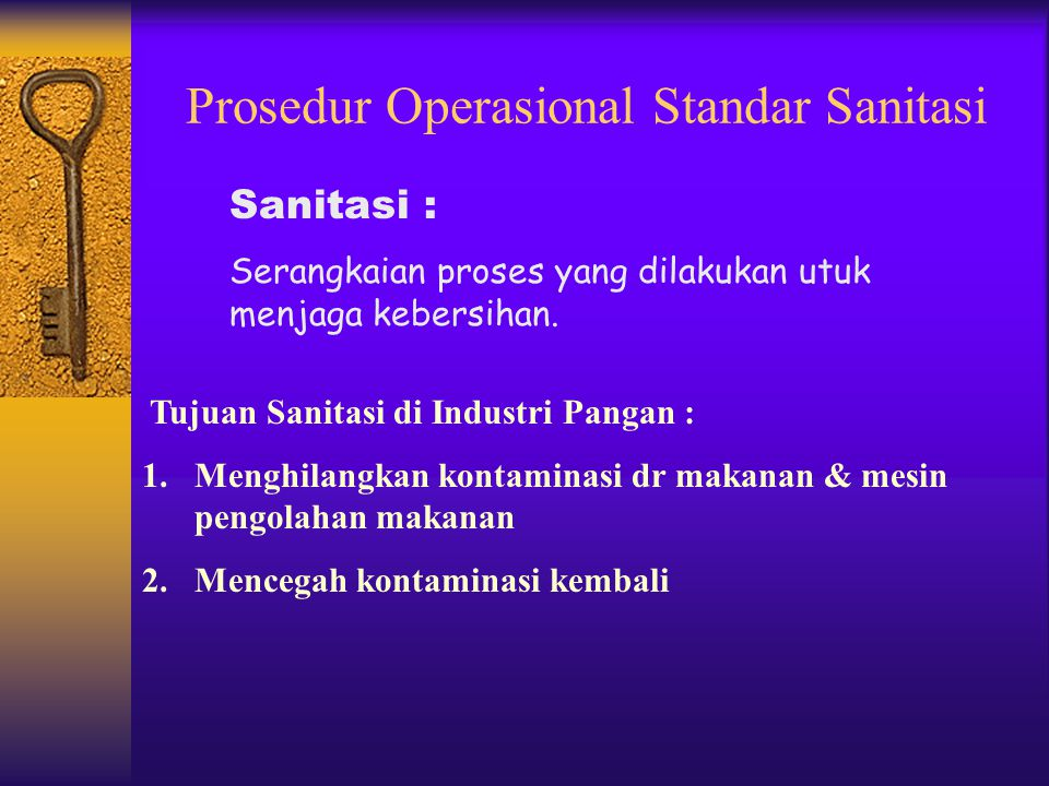 Prosedur Operasional Standar Sanitasi
