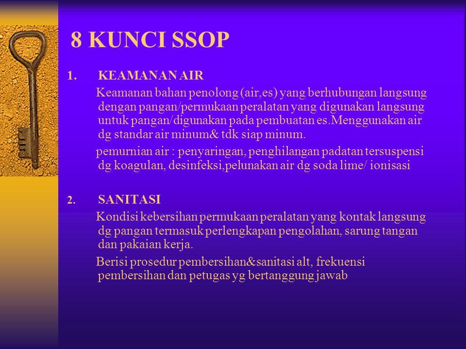 8 KUNCI SSOP 1. KEAMANAN AIR