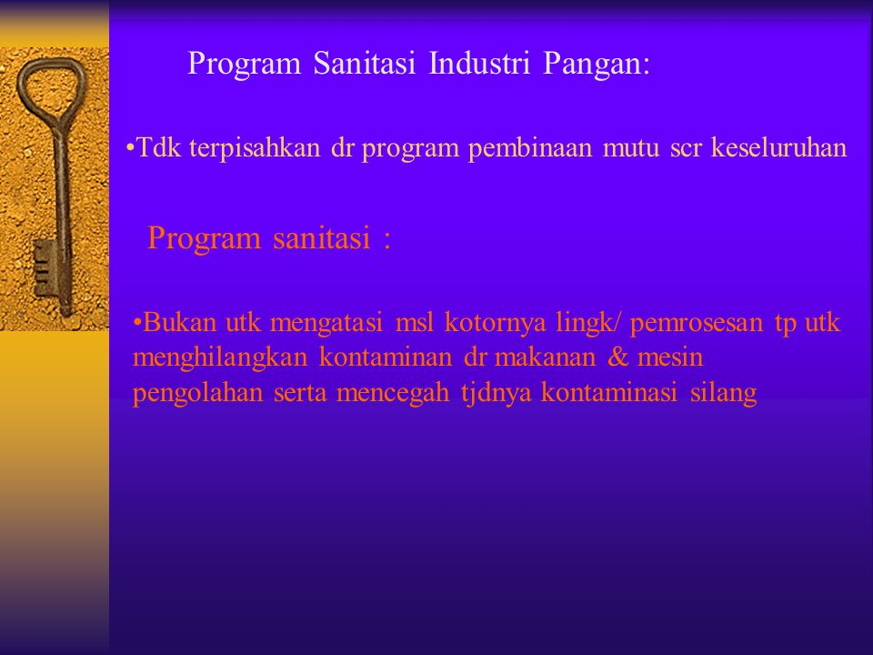 Program Sanitasi Industri Pangan: