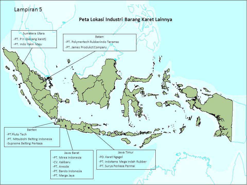 Peta Lokasi Industri Barang Karet Lainnya