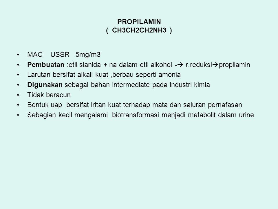 PROPILAMIN ( CH3CH2CH2NH3 )