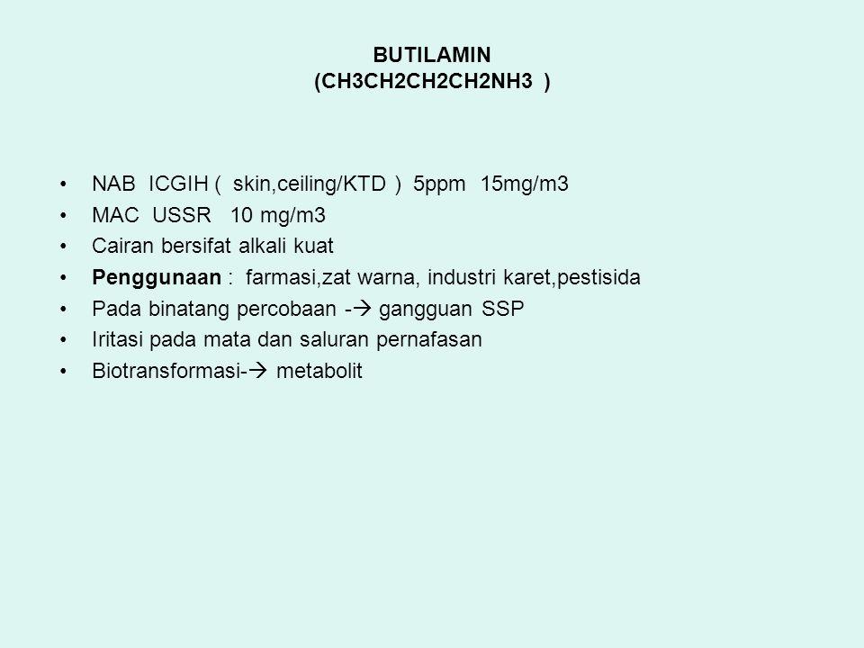 BUTILAMIN (CH3CH2CH2CH2NH3 )