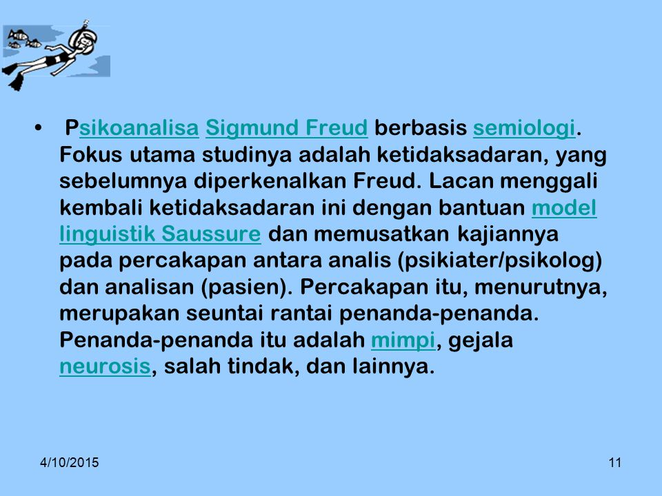 Psikoanalisa Sigmund Freud berbasis semiologi
