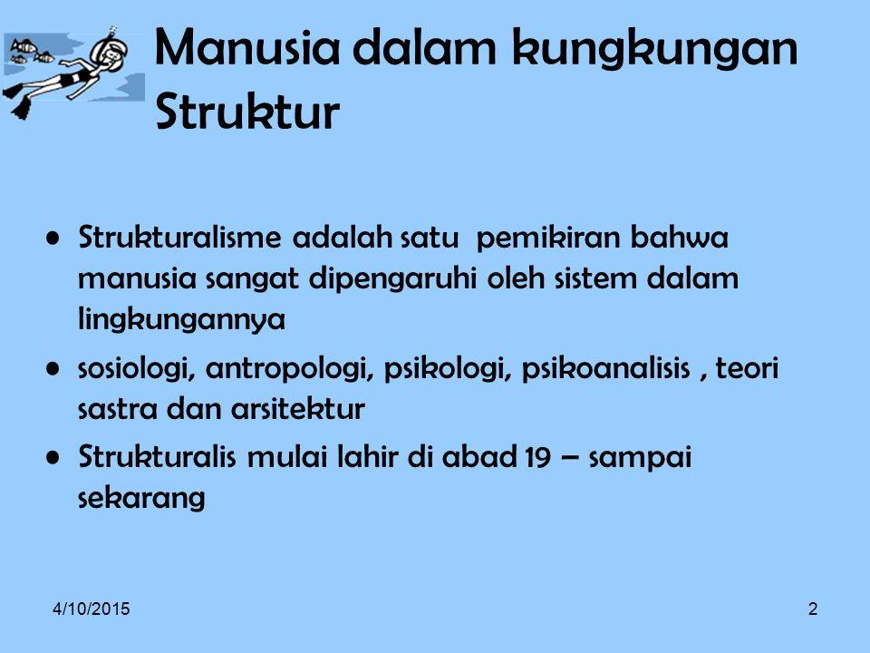Manusia dalam kungkungan Struktur