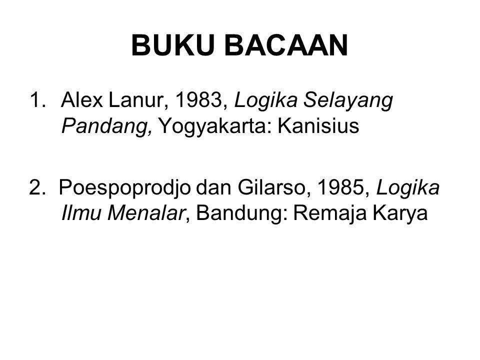BUKU BACAAN Alex Lanur, 1983, Logika Selayang Pandang, Yogyakarta: Kanisius.