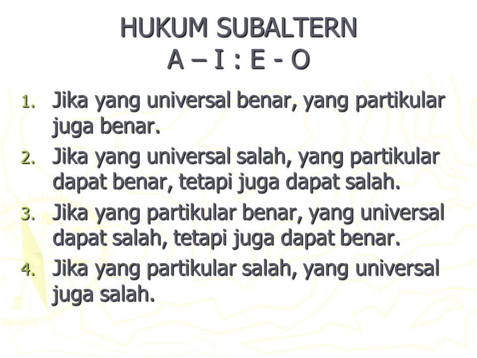 HUKUM SUBALTERN A – I : E - O