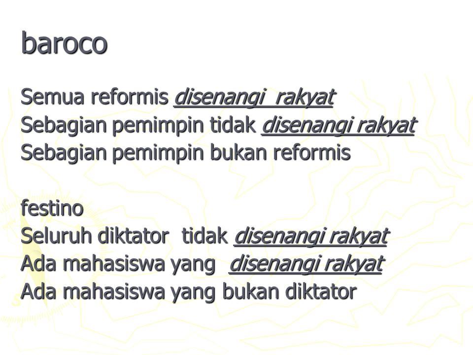 baroco Semua reformis disenangi rakyat
