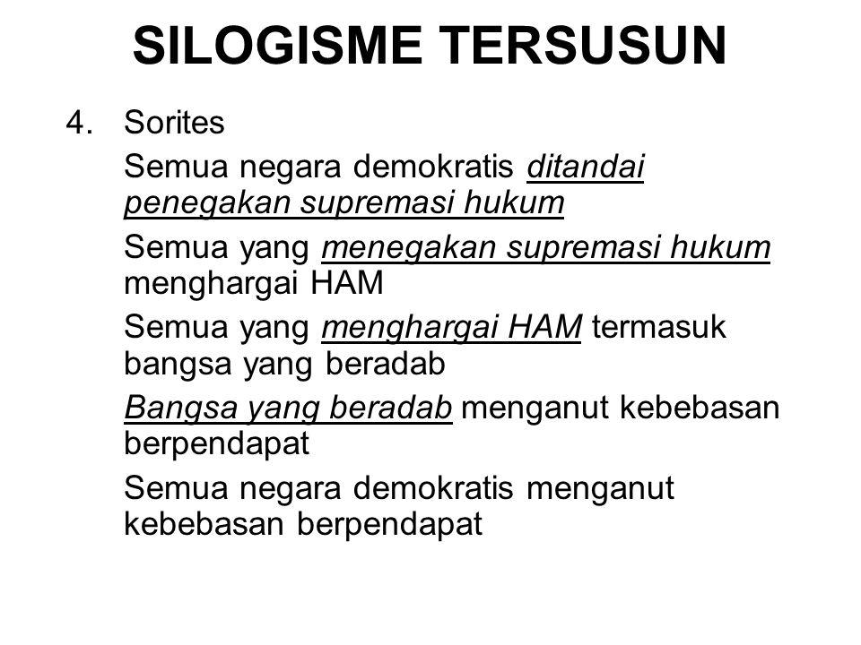 SILOGISME TERSUSUN 4. Sorites