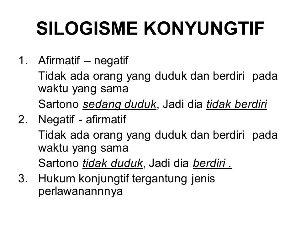 SILOGISME KONYUNGTIF