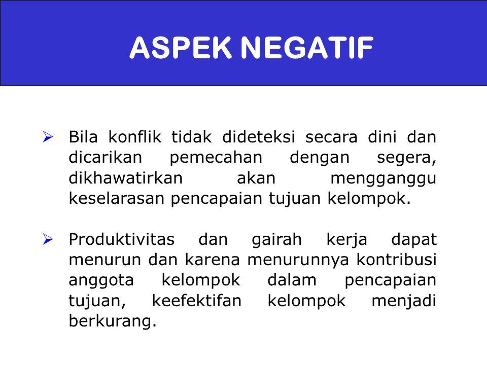 ASPEK NEGATIF