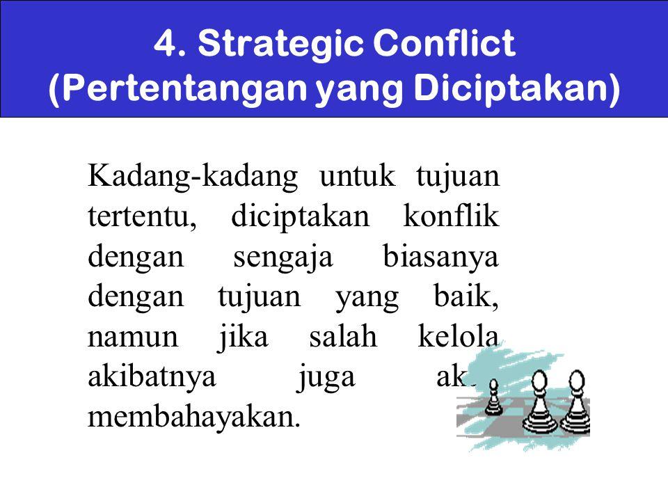 4. Strategic Conflict (Pertentangan yang Diciptakan)