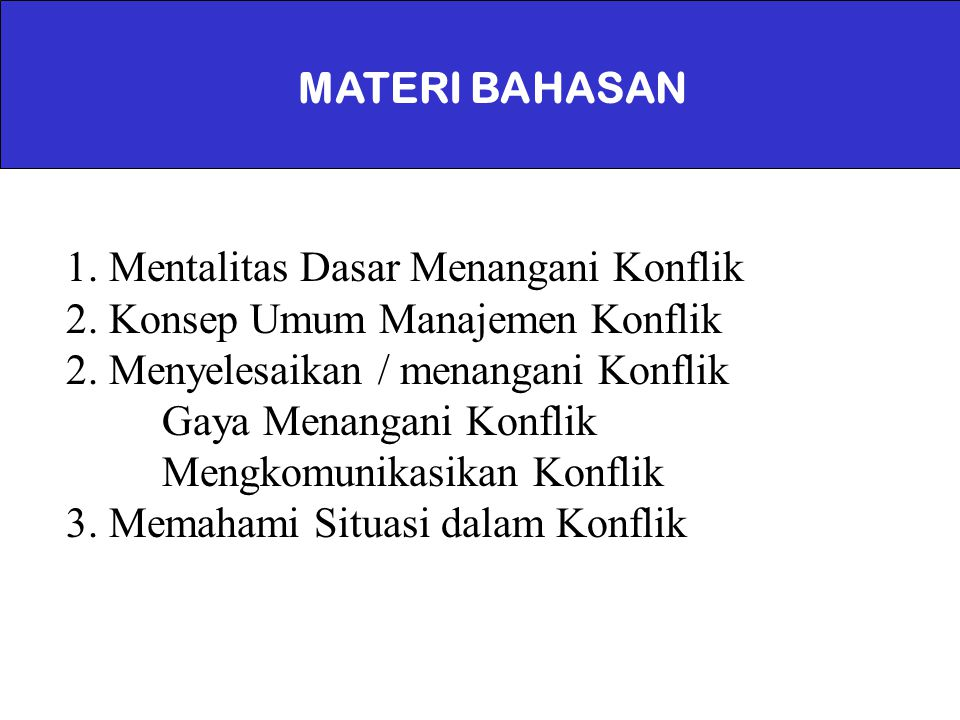 MATERI BAHASAN
