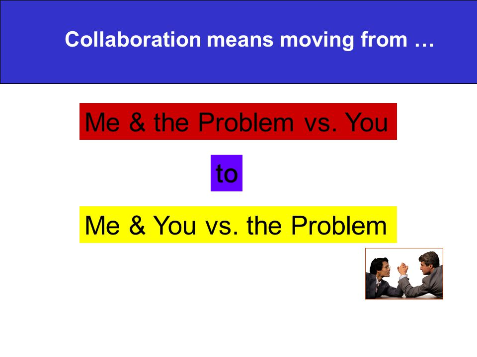 Me & the Problem vs. You to Me & You vs. the Problem