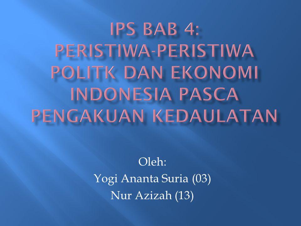 Oleh: Yogi Ananta Suria (03) Nur Azizah (13)
