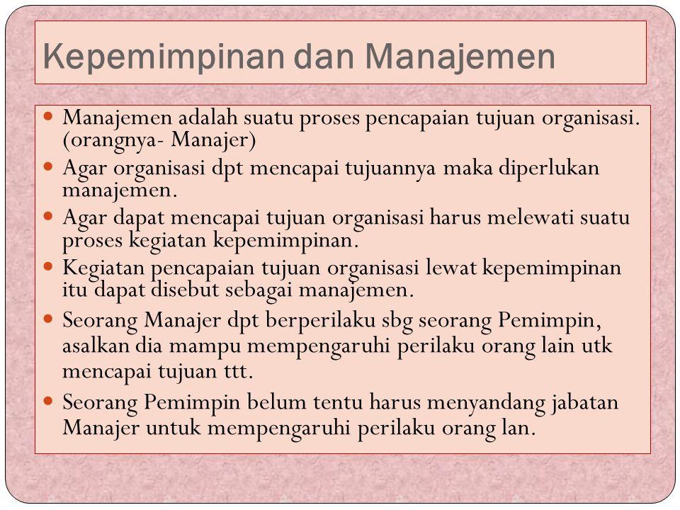 Kepemimpinan dan Manajemen