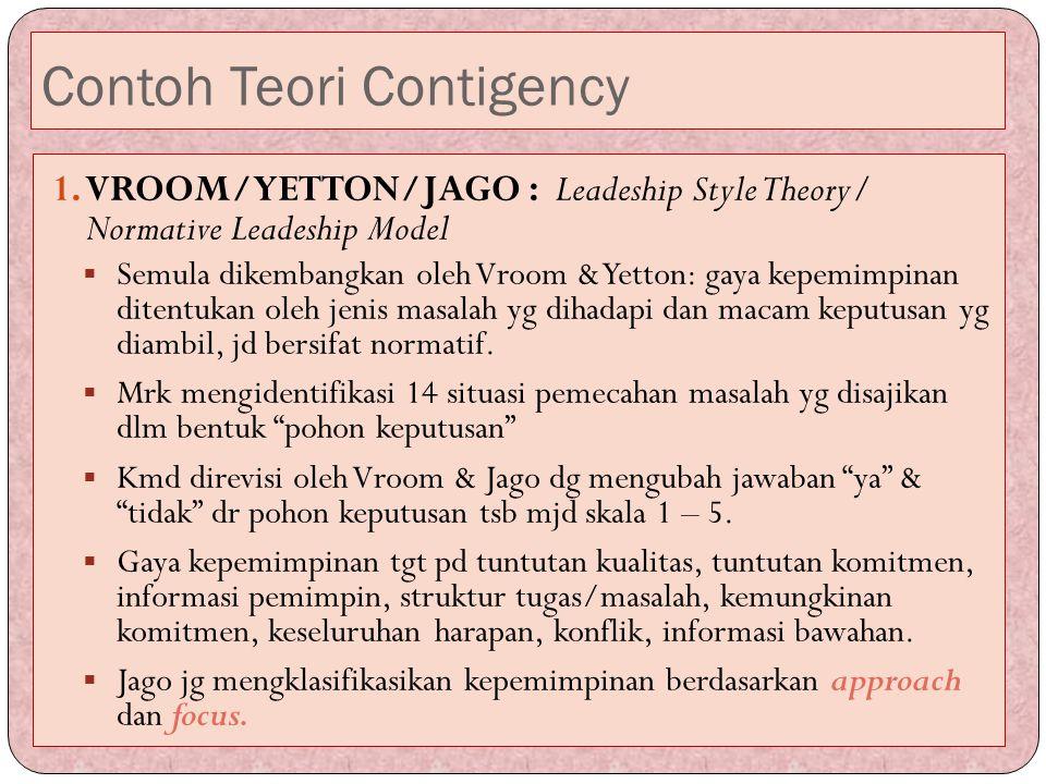 Contoh Teori Contigency