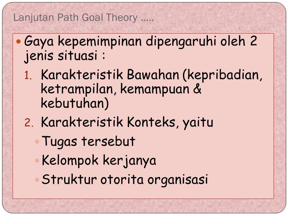 Lanjutan Path Goal Theory .....