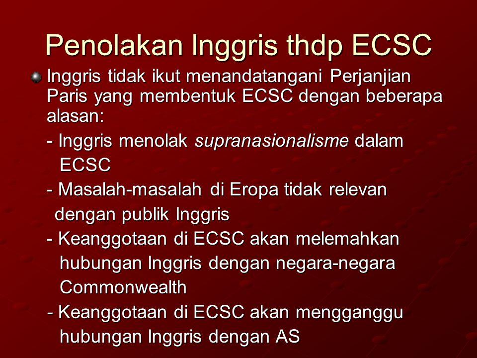 Penolakan Inggris thdp ECSC
