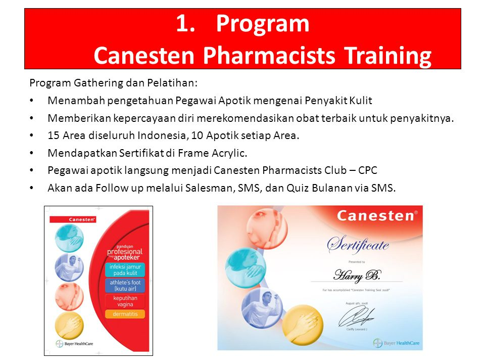 Program Canesten Pharmacists Training