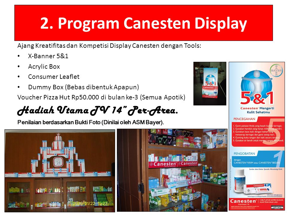 2. Program Canesten Display