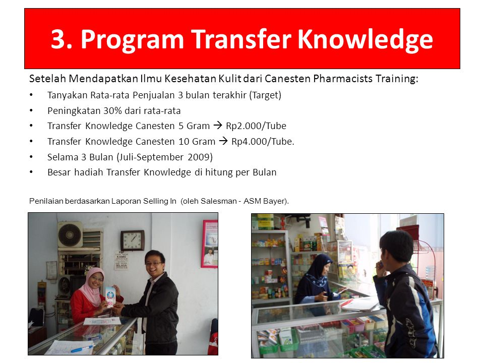 3. Program Transfer Knowledge