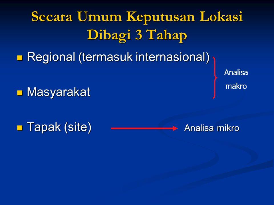Secara Umum Keputusan Lokasi Dibagi 3 Tahap