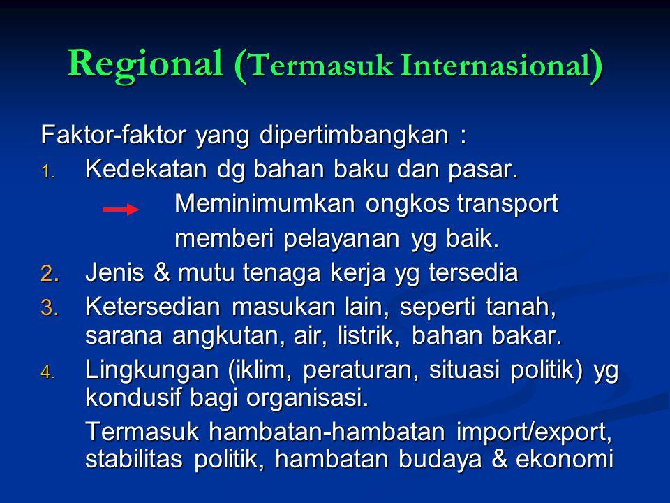 Regional (Termasuk Internasional)