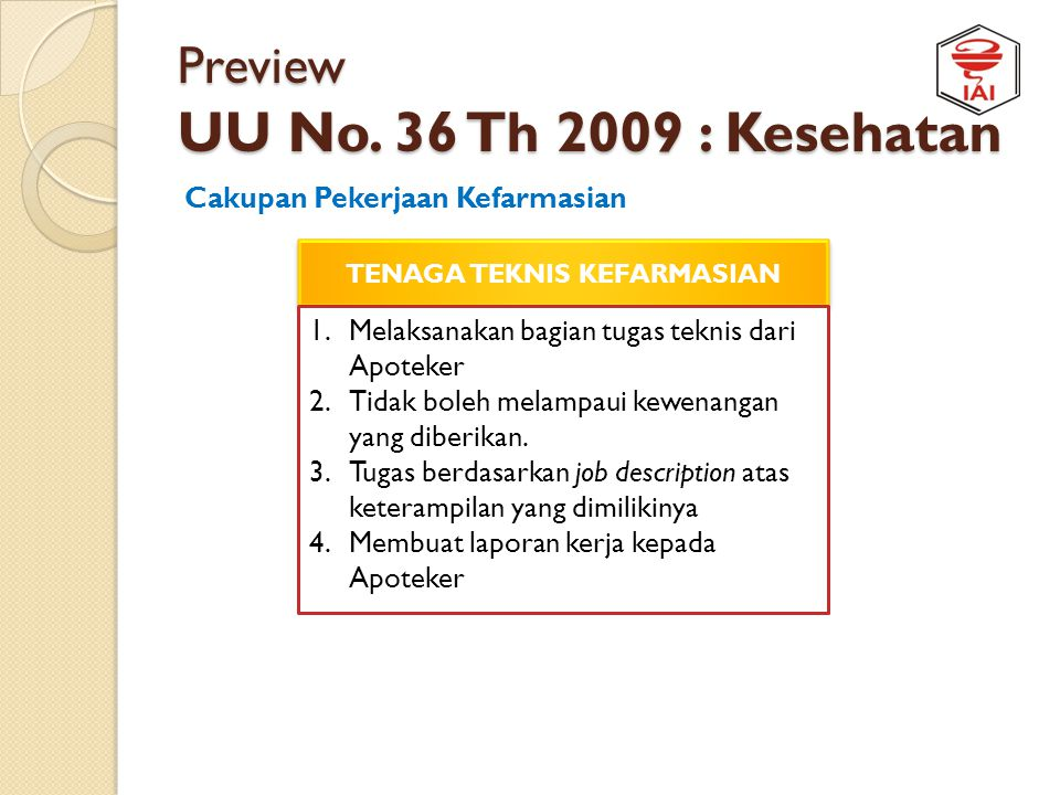 Preview UU No. 36 Th 2009 : Kesehatan
