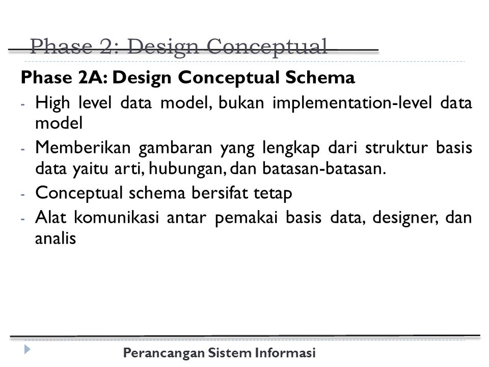Phase 2: Design Conceptual