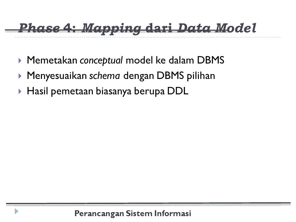 Phase 4: Mapping dari Data Model