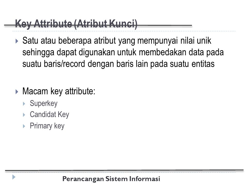 Key Attribute (Atribut Kunci)
