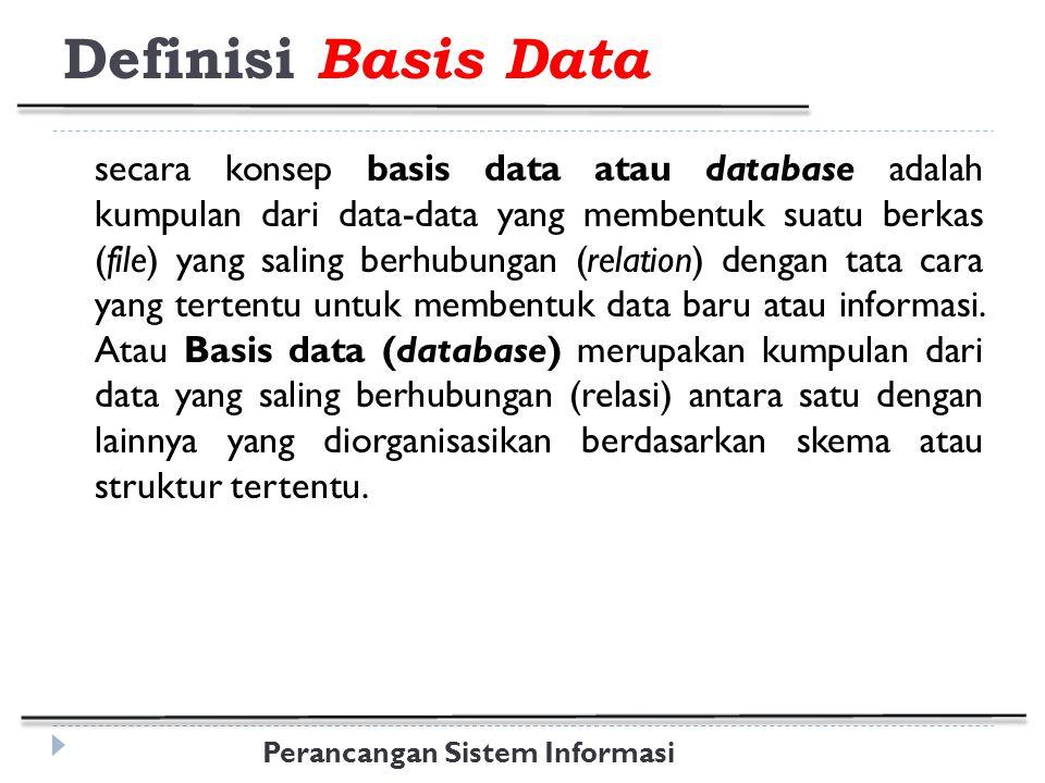 Definisi Basis Data