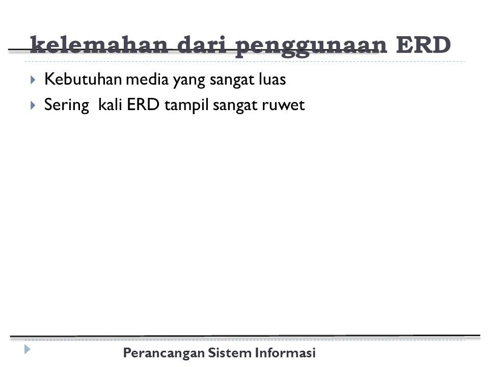 kelemahan dari penggunaan ERD