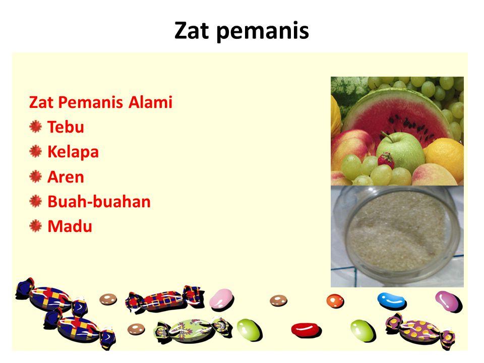 Zat pemanis Zat Pemanis Alami Tebu Kelapa Aren Buah-buahan Madu
