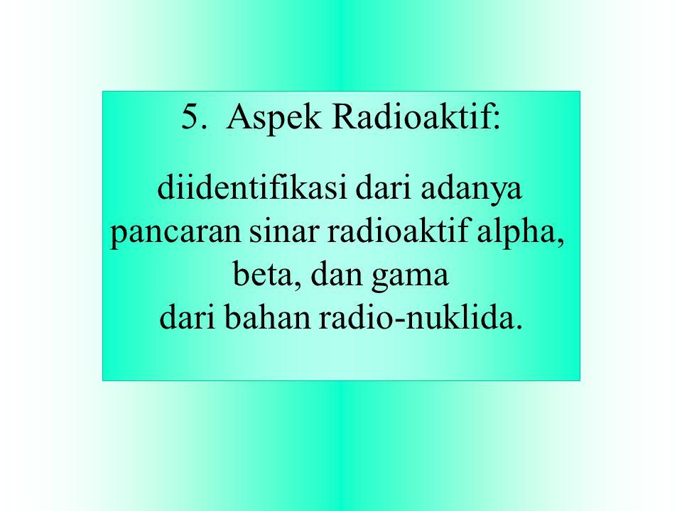 5. Aspek Radioaktif: diidentifikasi dari adanya