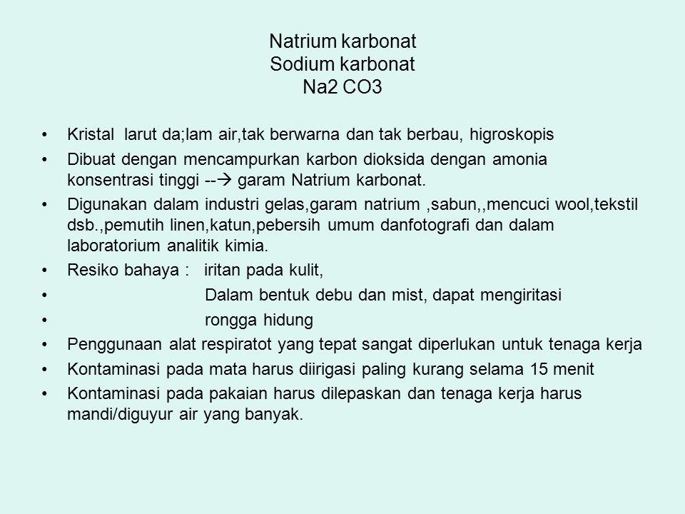Natrium karbonat Sodium karbonat Na2 CO3