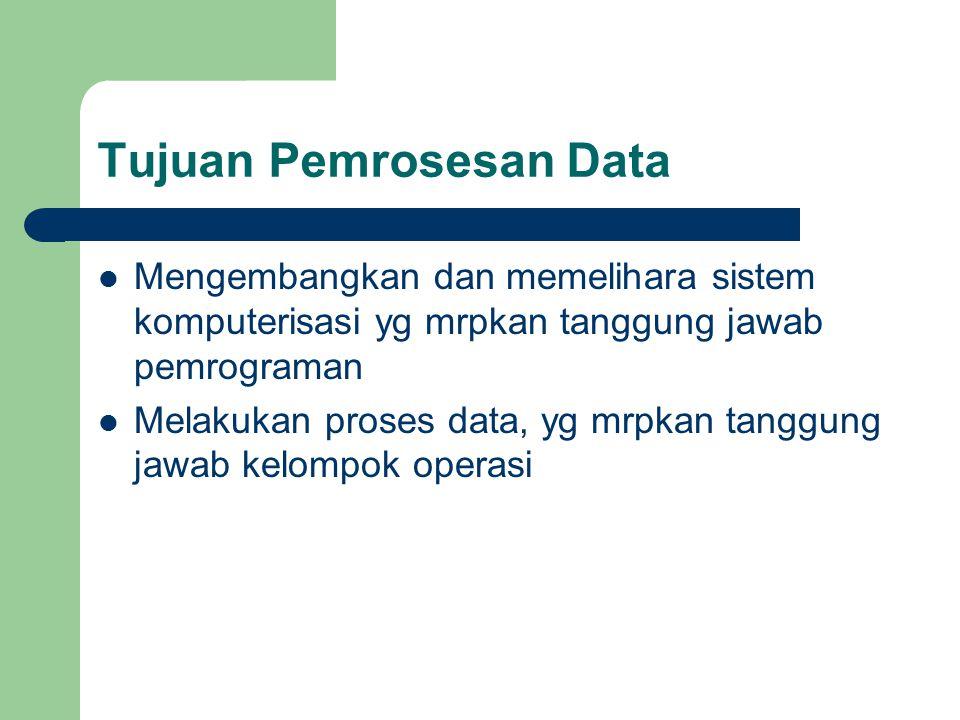 Tujuan Pemrosesan Data