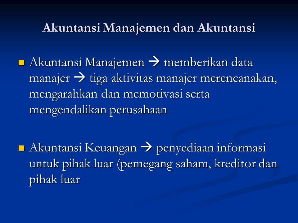 Akuntansi Manajemen dan Akuntansi