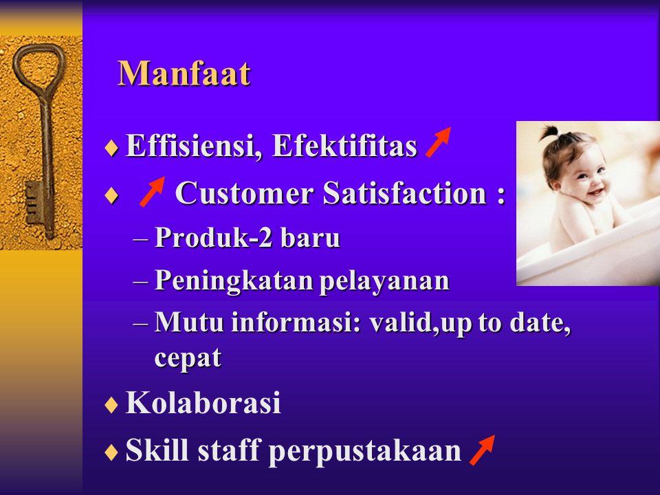 Manfaat Effisiensi, Efektifitas Customer Satisfaction : Kolaborasi