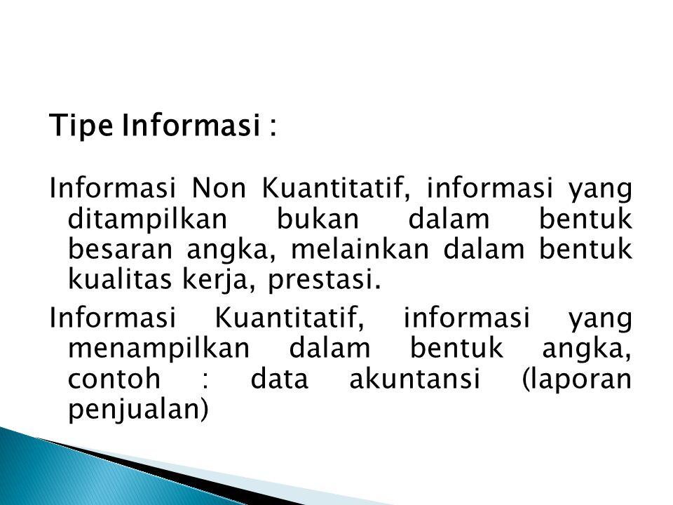Tipe Informasi :