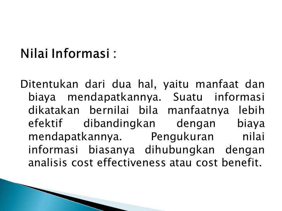 Nilai Informasi :