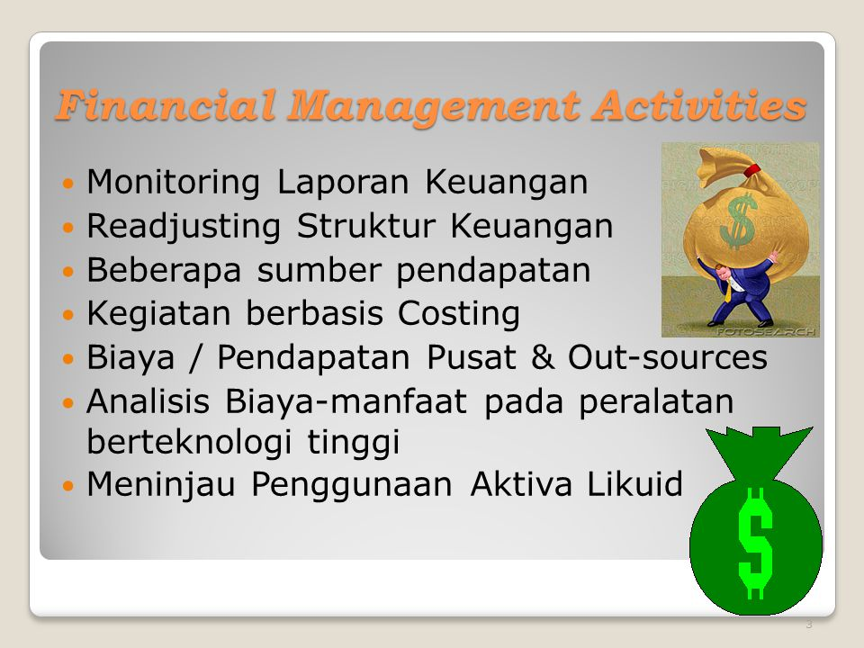 Financial Management Activities