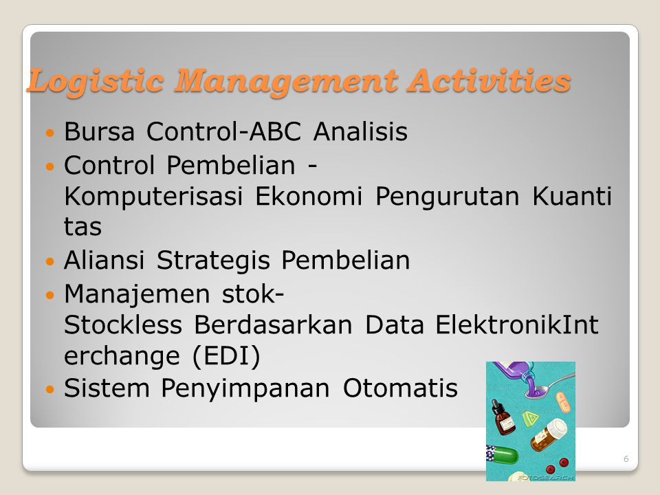 Logistic Management Activities