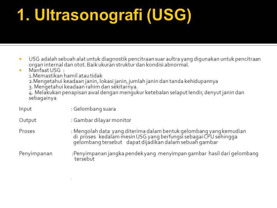 1. Ultrasonografi (USG)